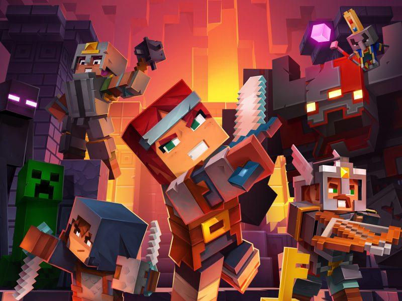 Новая компьютерная игра Minecraft Dungeons, 2020