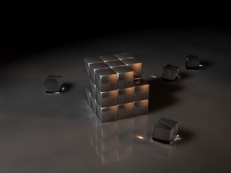 3D вид (3д), Кубики
