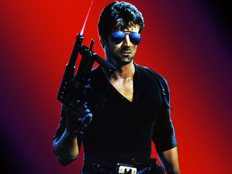 Обои очки, Сильвестр сталлоне, оружие, кобра, спичка