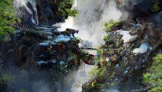 Обои FarCry 4, Козы, Арт, Игра, Флажки, Горы