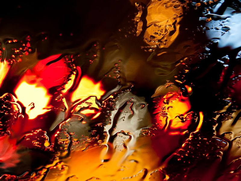 Обои вода, цвет, макро, свет, Стекло, огни
