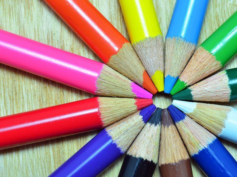 Обои цвет, colors, обои, фон, цветные карандаши, Разное