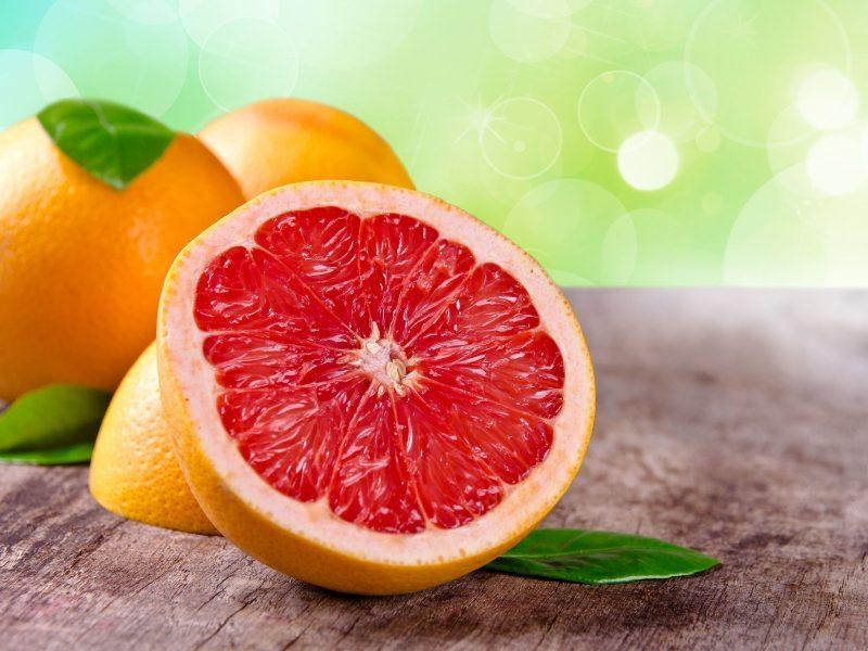 Обои фрукт, обои, фон, грейпфрут, листья, Еда