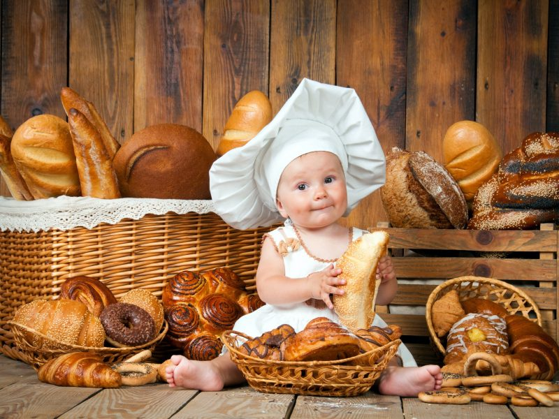 Обои Малыш, ребенок, Повар, Выпечка, хлеб для рабочего стола