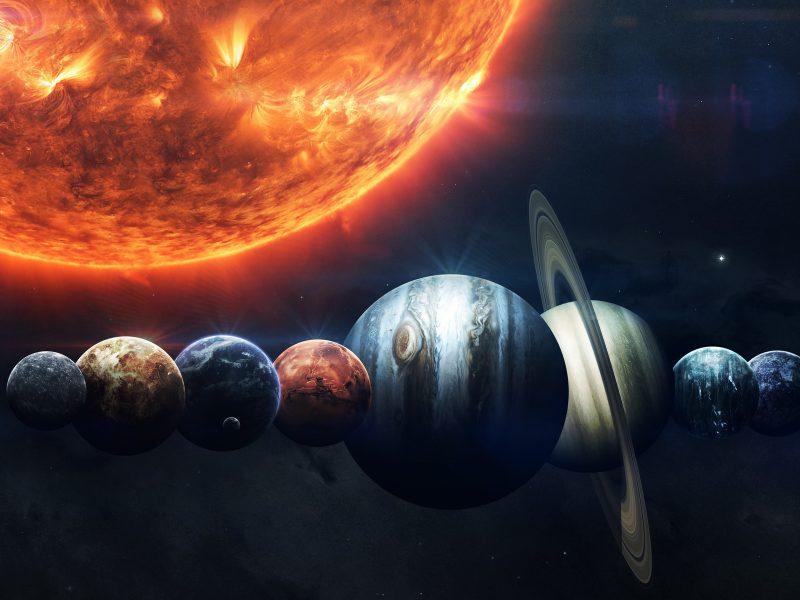 Обои Солнце, Сатурн, Луна, Космос, Звезда, Земля, Планеты, Moon, Марс, Юпитер, Нептун, Меркурий, Венера, Planets для рабочего стола