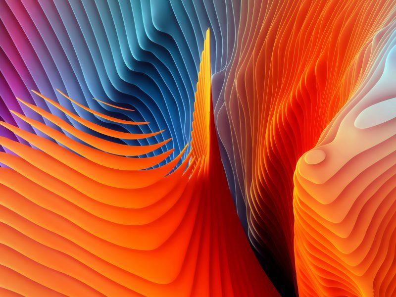 Обои линии, 3Д, графика, цвета, краски для рабочего стола