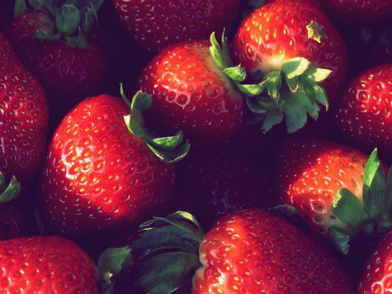 клубника, ягоды, Макро, еда