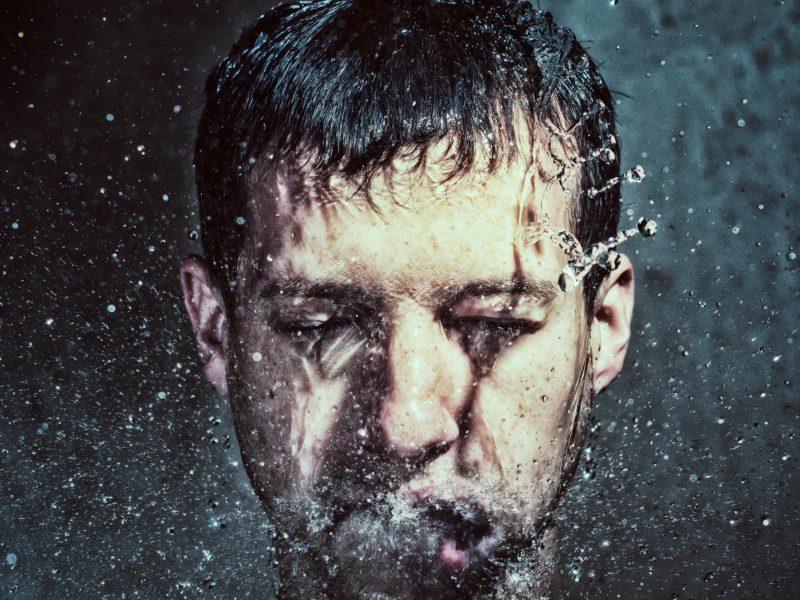 брызги, Мужчина, вода