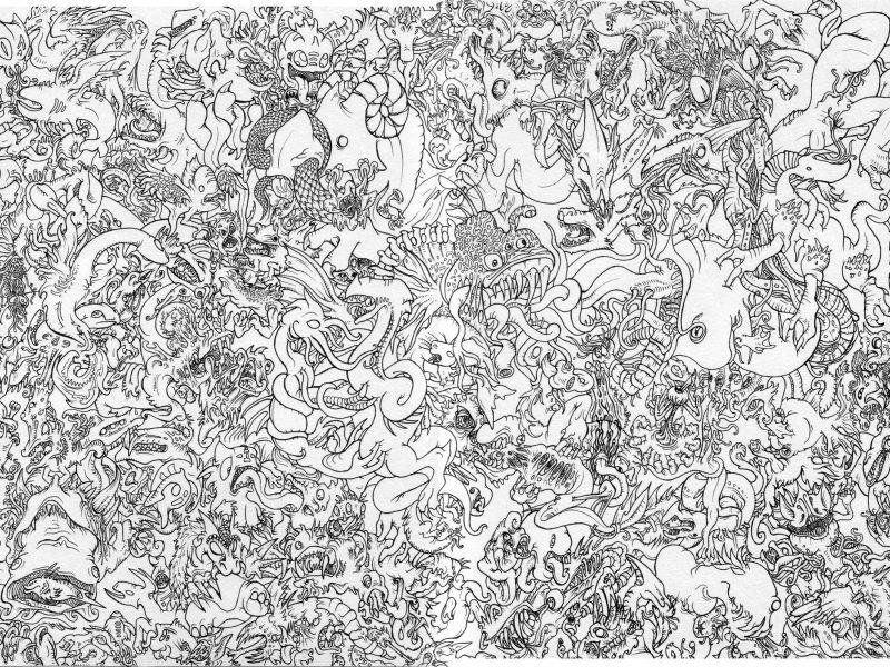 бумага, Китай, драконы, чёрно-белое, узор