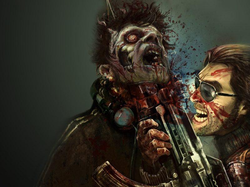 оружие, автомат, зомби, крик, игры, Dead-island, взгляд