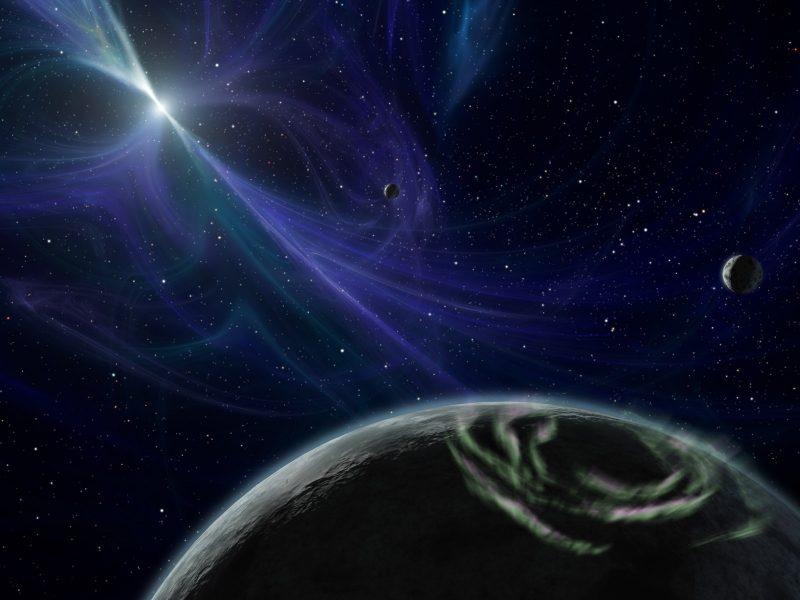 полюс, Планета, северное сияние