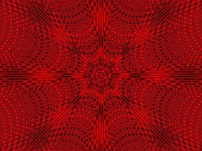 Красный абстрактный рисунок иллюзии