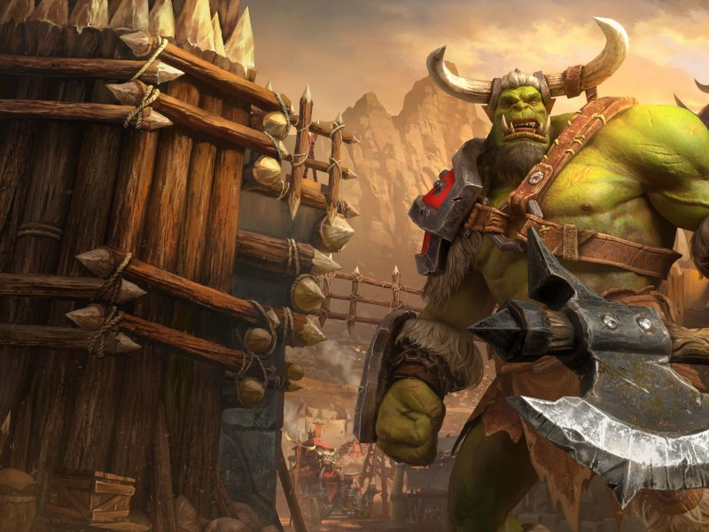 Орк из компьютерной игры Warcraft III: Reforged