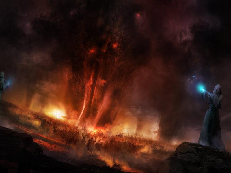Война, Темнота, Армия, Дым, Фэнтази, Пылающий, Магия, Волшебники, Филипп Штрауб