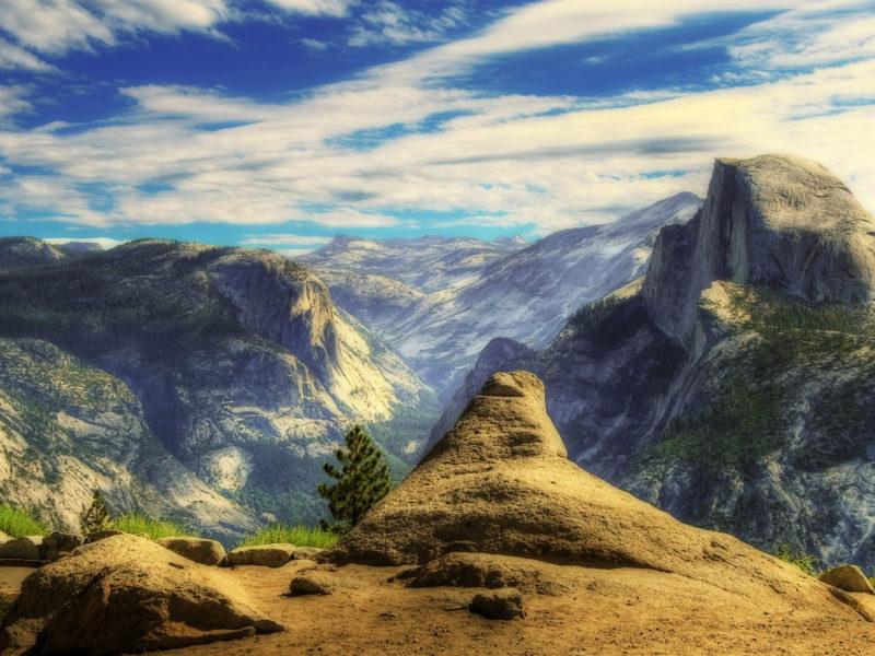 Горы, Облака, Пейзажи, Природа, HDR фотографии