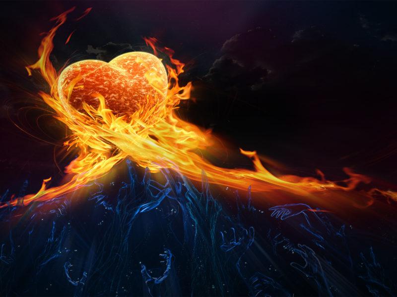 Абстракции, Облака, Любовь, Огонь, Руки, Призраки, Фэнтази, Сердца