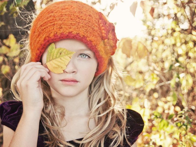 Обои осень, девочка, настроение