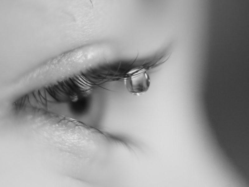 Обои слеза, макро, настроение