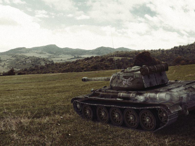 Обои world of tanks, танки, wargaming.net, т-44, танк, холмы, Wot, поле