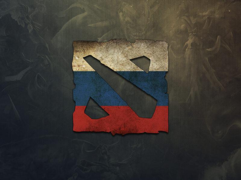 Обои russia, Dota 2, game, игра, логотип, logo, россия, дота 2