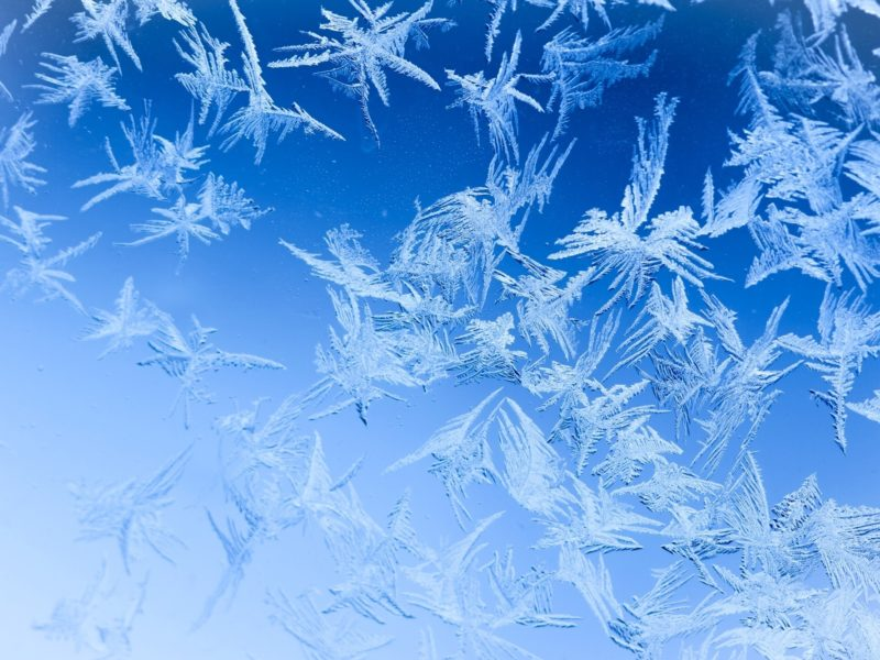 Обои стекло, узоры, Зима, мороз