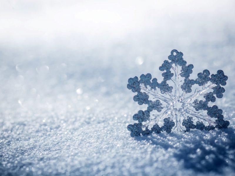 Обои снег, лед, зима, макро, природа, Снежинка