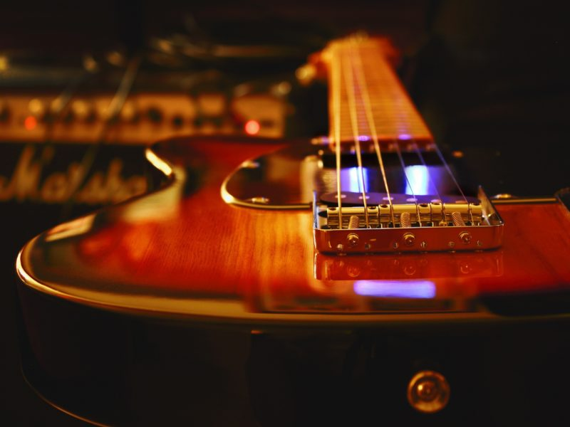 Обои Гитара, вблизи на рабочий стол.