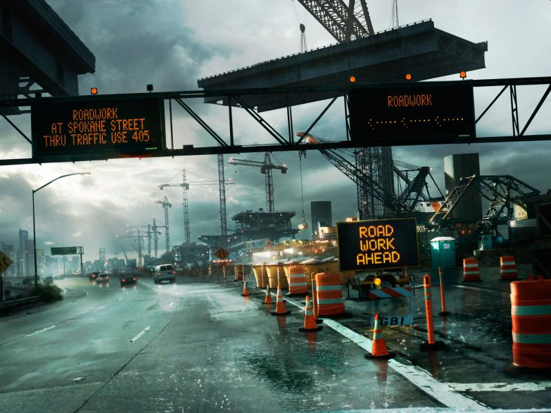 Need For Speed Undercover road work