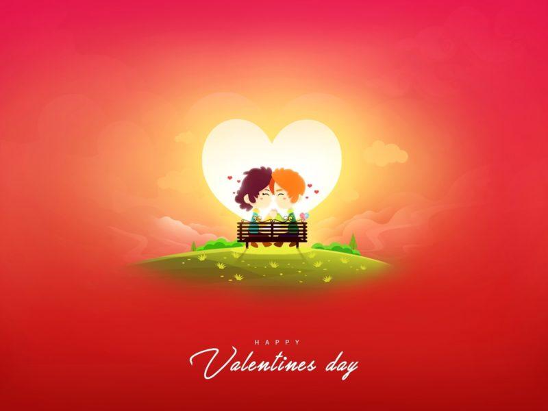 Обои День святого Валентина, пара, сердце, любовь для рабочего стола