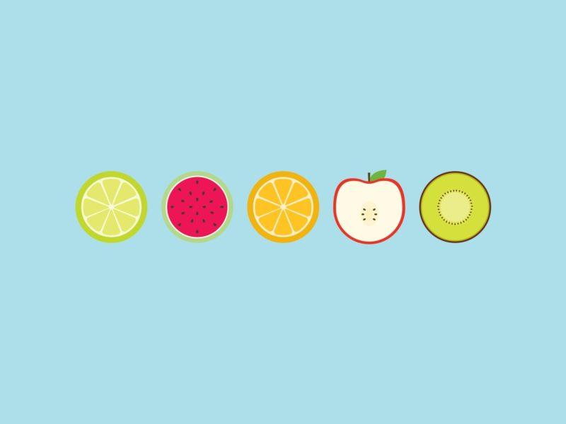 яблоко, круги, Фрукты, апельсин, киви, лайм, арбуз