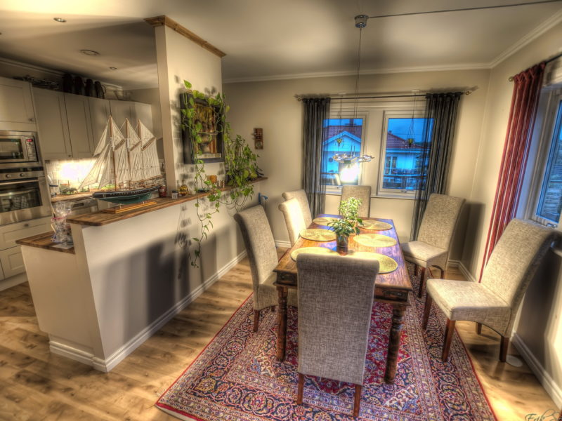 ковер, дизайн, Интерьер, hdr, стол, фото, стулья, кухня