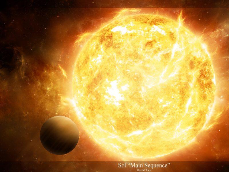 протуберанцы, планеты, свет, Звезда, излучение