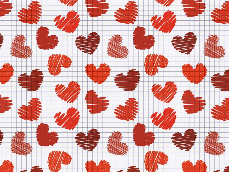 Valentines day, сердечки, сердце, клетки, день влюбленных