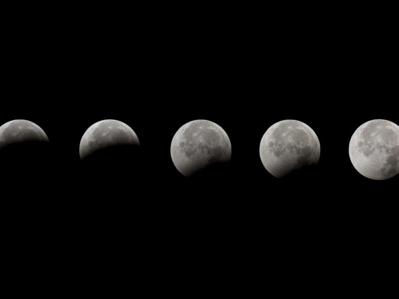 Луна, фазы, затмение, lunar eclipse