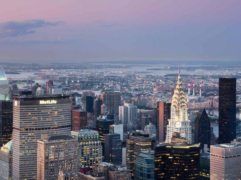 Вечернее небо Нью-Йорка