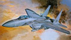 Серый военный самолет McDonnell Douglas