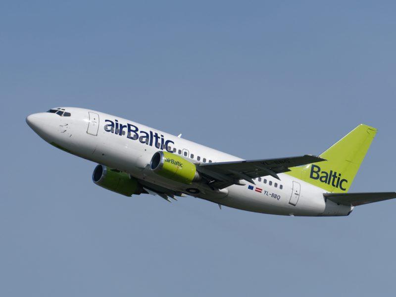 Пассажирский самолет Boeing YL-BBQ авиакомпании Air Baltic