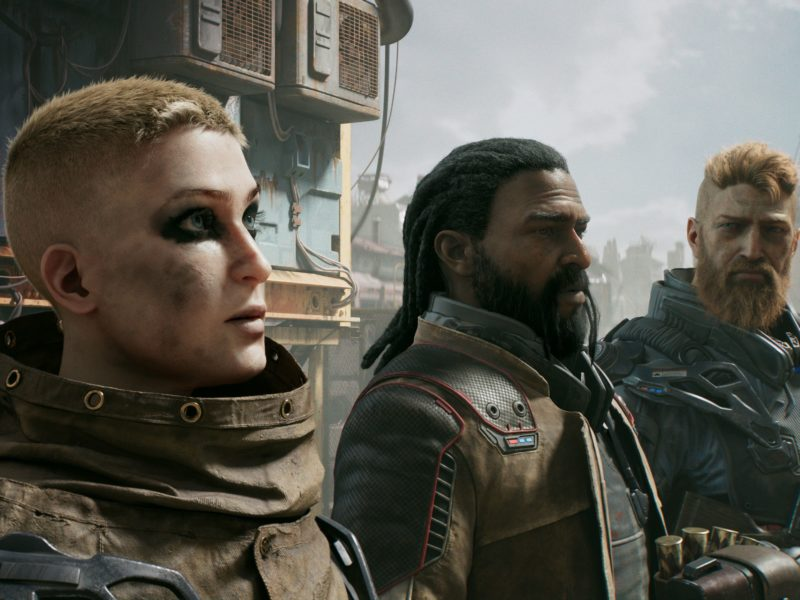 Солдаты из компьютерной игры Outriders