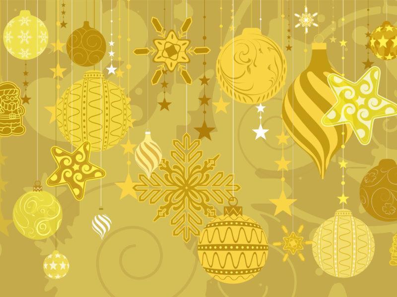 Желтый цвет, Рождество, Праздники, Украшения