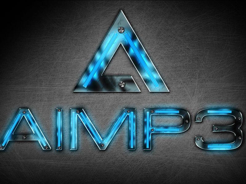 Обои лого, бесплатный аудиопроигрыватель, hi-tech, Aimp