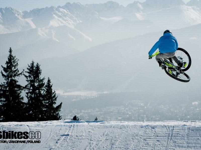 Обои велосипед, Mtb, downhill, bike, freeride, winter.snow, снег, зима