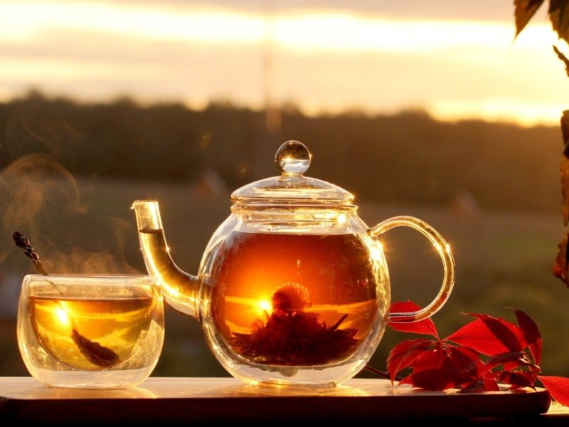 Обои горячий, Еда, чай, обои, листья, фон, чаепитие