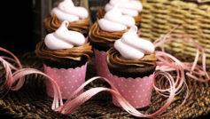 Обои крем, Еда, кексы, сладкое, кексик, кекс, розовый