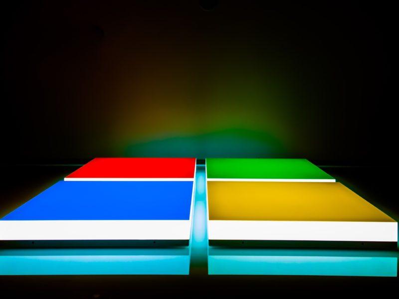 Обои Логотип, Microsoft, цвета на рабочий стол.