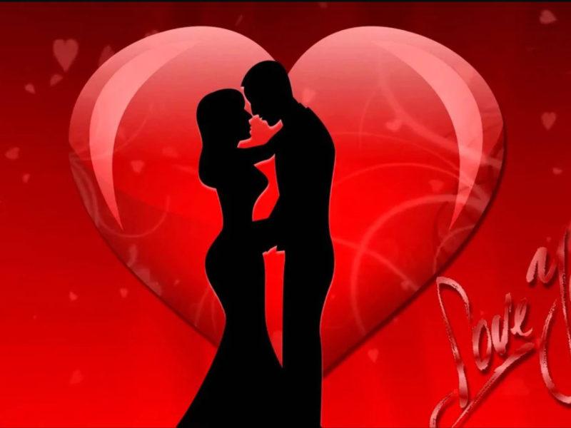 Обои любовь, он, она, сердечко, Love You на рабочий стол.
