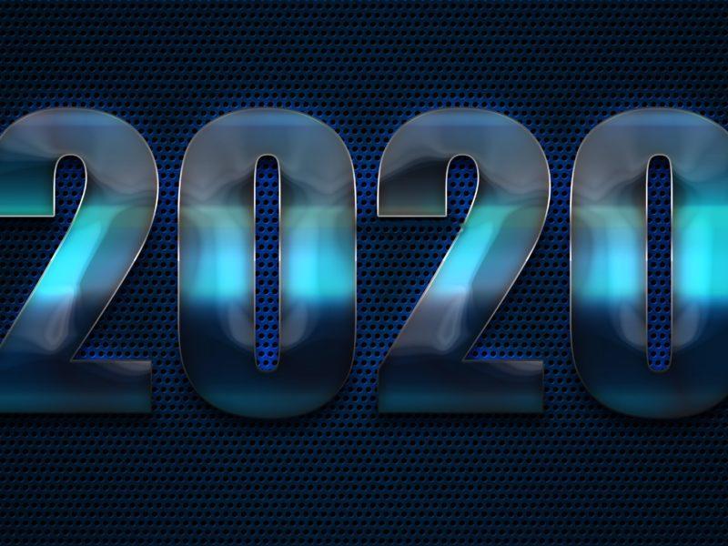 Обои Новый год, 2020, дата, цифры для рабочего стола
