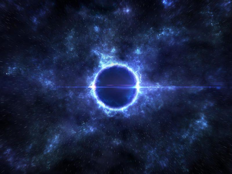 Обои черная дыра, космос, звезды, свечение для рабочего стола