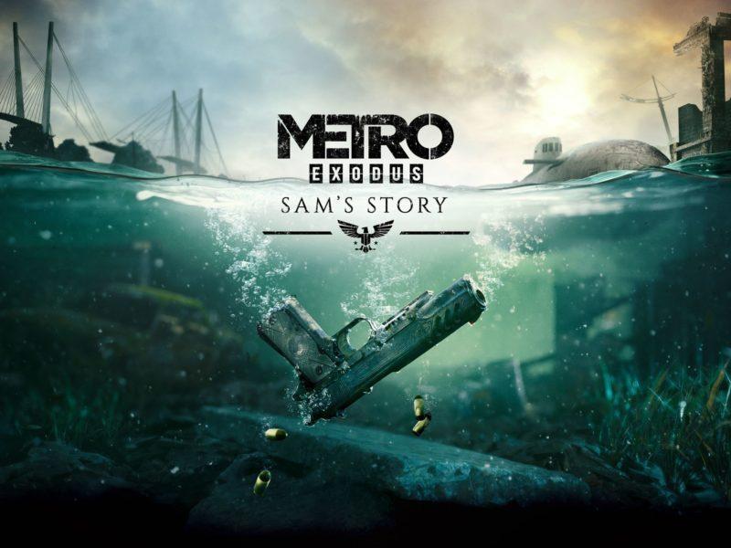 Обои игра, вода, мост, пистолет, Metro Exodus для рабочего стола