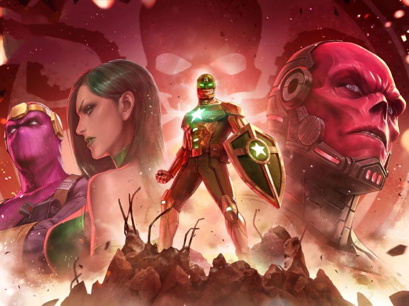 Обои игра, персонажи, Marvel, Marvel, Future Fight для рабочего стола
