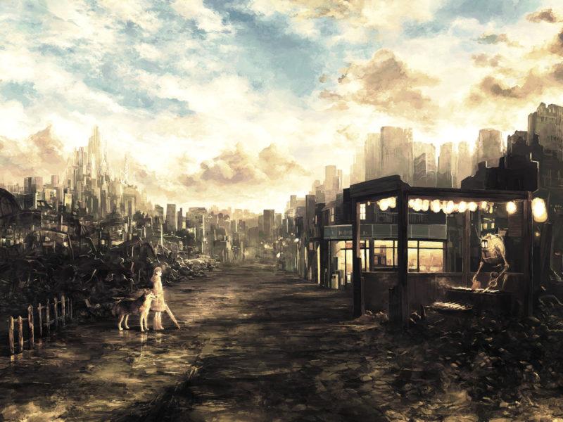 ruins, будущее, постапокалипсис, руины, Future, арт, дорога